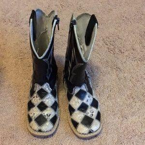 Girls Blazin Roxx cowgirl boots-size 9.5 Toddler